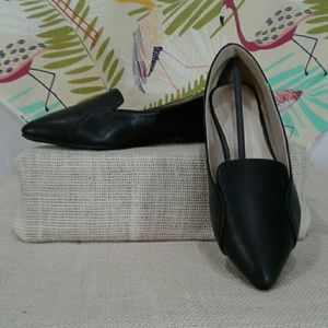 Ollio black slip on flats Sz 9